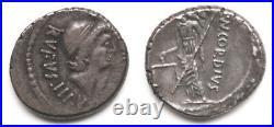 République Romaine Denier Rufus 46 av. JC, Rome Venus Verticordia B#1