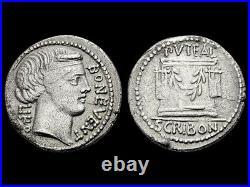 République Romaine Denier Scribonia 62 av. JC, Rome RCV#367 B#8