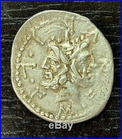 Republique Romaine M. Furius L. F. Philius (120 Av Jc) Denier