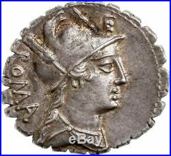 République Romaine Poblicia Denier splendide exemplaire