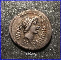 République, Sicinia, Quintus Sicinius, Denier, 49 av. J. C, RRC. 444 /1a