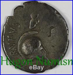 République romaine, Cordia (Manius Cordius Rufus), denier, -46