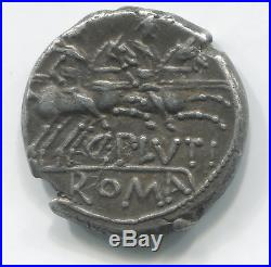 République romaine Denier de la gens Plutia