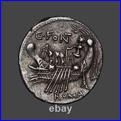 Republique romaine Fonteia (114-113 Av. J. C.) Denier