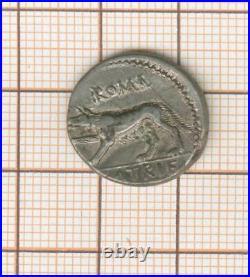 République romaine Satriena 77 av JC denier à la louve jolie qualité