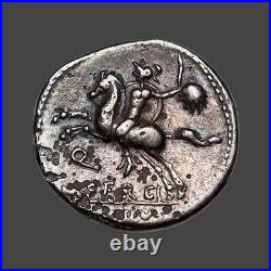 Republique romaine Sergia (116 Av. J. C.) Denier fourré