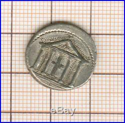 République romaine VOLTEIA 78 av JC denier au temple jolie qualité