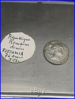 Roman Coin Antique Denier Argent République POSTUMIA SUP