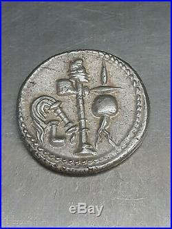Roman coin Rome Superbe denier en Argent à l'éléphant de César