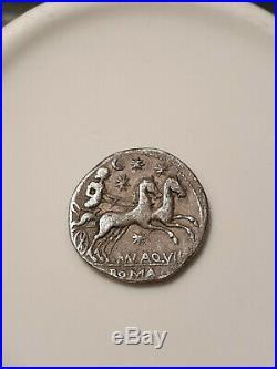 Roman coin denier anonyme republique romaine rome Argent Silver