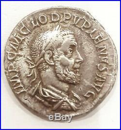 Roman silver coin Pupien denier pupianus denarius