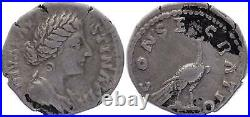 Rome Empire Denier, Diva Faustina (176-180) CONSECRATIO