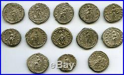 Rome Lot de 13 Deniers Septime Sévère AD 193-211