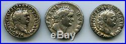 Rome Lot de 3 deniers Titus (AD 79-81)