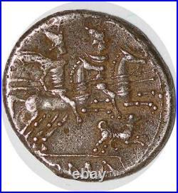 S5920 Rare Antestia Denier 146 Ac Rome Coin C Antes Ti Tête Casquée X Menton