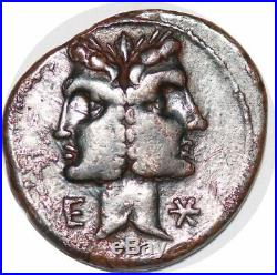 S6281 denier C Fonteius 114/113 BC denarius Janiform Dioscuri EC FontSilver