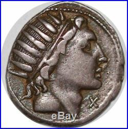 S6289 denier Man. Aquillius. 109-108 B. C. AR denarius MNAqvil/Roma Silver