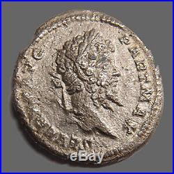 SEPTIME SEVERE et CARACALLA, denier Rome en 200-201, tête de septime et buste de