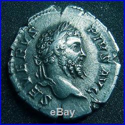 SEPTIME SEVERE et GETA, SEPTIMIUS SEVERUS and GETA, denier Rome en 201, leurs bu