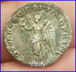 Silver Roman Coin Denarius Trajanus Denier Trajan