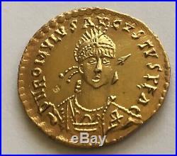 Solidus Romulus Augustus En Vermeil Or Plaqué Sur Argent. Aureus Denier copy