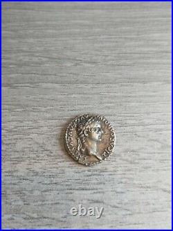 Sublime Rare Denier De Tibere High Relief Pontif Maxim Denier Judas