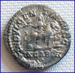 Superbe Denier Argent au LION CARTHAGE, monnaie romaine, roman coin