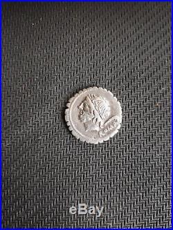 Superbe Denier de République Serratus Memmia +100 Argent Silver romain coin SUP