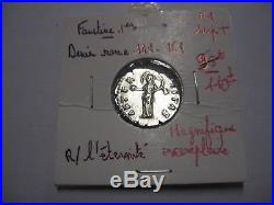 Superbe denier argent de Faustine 1er, rome 141,161