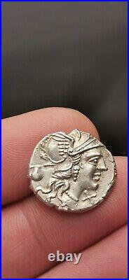 Superbe denier argent de Pompéia, Rome 137 (F-OSTLV-S SEX PO // ROMA) 3,76 g