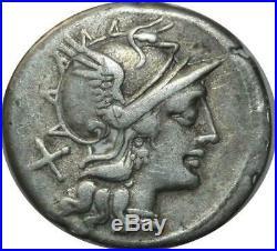 T9598 Denarius Safra 148 BC AR Denier Roma Silver Quadrige Argent -Faire offre
