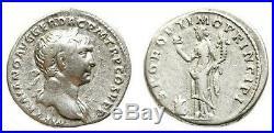 TRAJAN 97-117, denier Rome, 103-111. Peu courant avec l'autel au revers