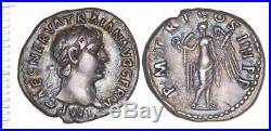 Trajan (98-117) Denier (victoire), Ttb++