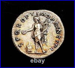 Trajan. Superbe Denier D'Argent Circa Ad 106-107. Ancien Romain Pièce Argent