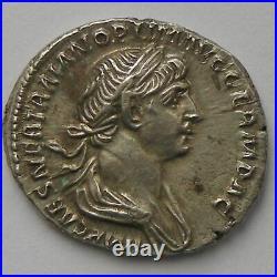 Trajan, Traianus, Denier, R/ PARTHICO P M TR P COS VI PP SPQR, SUP Empire Roma