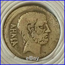 Trés Rare Denier Argent Brutus Ahala piece romaine monnaie coté 1500