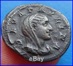 Tres rare Denier Paulina Pauline CONS-EC-RATIO, roman coin, monnaie romaine
