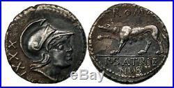 Très rare Denier Romain SATRIENA ou de Satrienus SUP, denarius 77 Av. JC