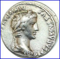 U6425 Rare Roman Empire Denier Augustus 27 BC 14 AD Lugdunum Caesare Silver