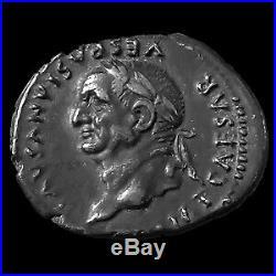 VESPASIANUS, VESPASIEN, denier Rome en 77-78, COS VIII Mars, 16x20mm, 3,42 grms