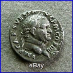 VESPASIEN Denier Rome, 72-73 Instruments pontificaux au revers RIC 42
