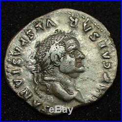 VESPASIEN, VESPASIANUS, denier Rome en 75, PON MAX TR P COS II, 3,07 grms, RIC. 7