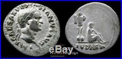 Vespasien Denier Judee Captive -ric 2 Superbe Portrait Pour Ce Type