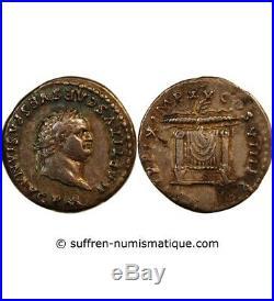 Vespasien, Frappe Sous Titus Denier Argent 80 Rome
