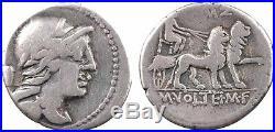 Volteia, denier, Rome, 78 av JC, Attis 65